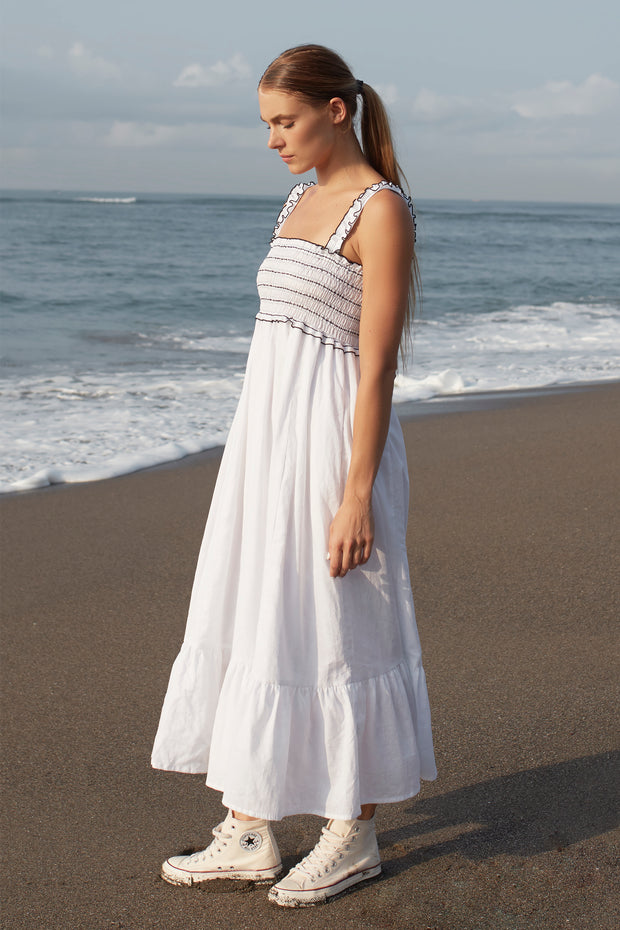 HADLEY MAXI DRESS - WHITE
