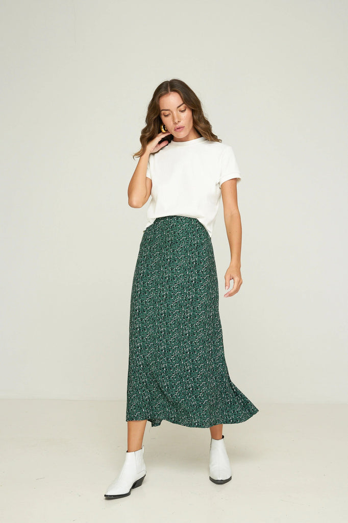 Philo Skirt - Oasis - Emerald