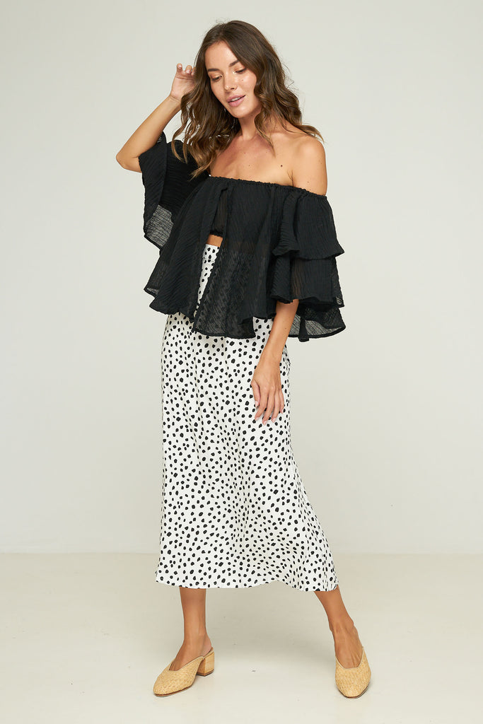 Philo Skirt - Pebbles - Noir