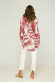 Poppy Shirt - Hampton Stripe - Rust - SAMPLE