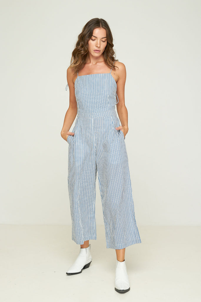 Barrett Jumpsuit - Sonora Stripe - Chambray