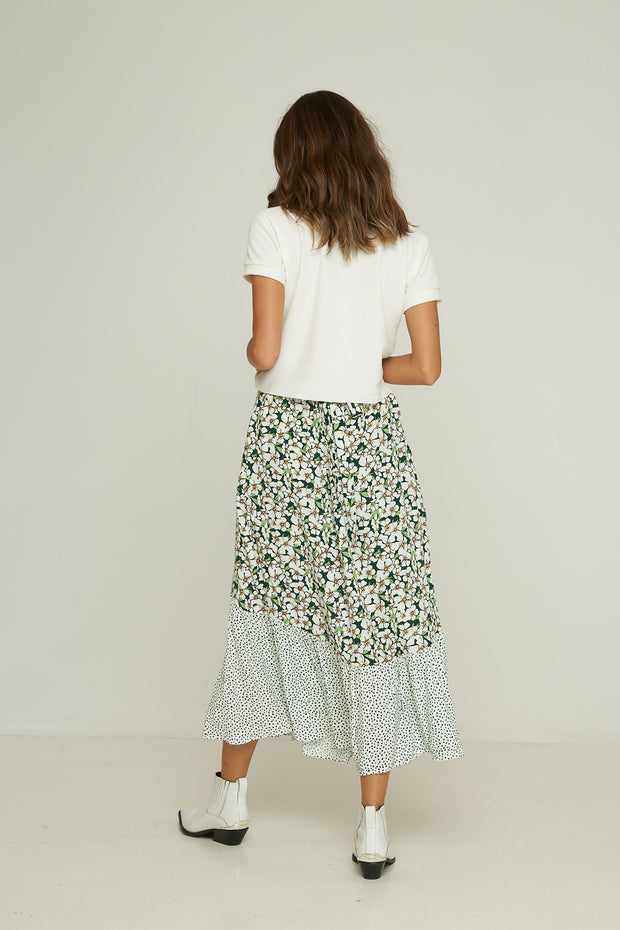 Sheffield Skirt - Emerald Posy Floral Confetti Mix