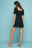SALLY MINI DRESS - BLACK