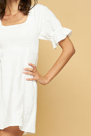 SALLY MINI DRESS - WHITE