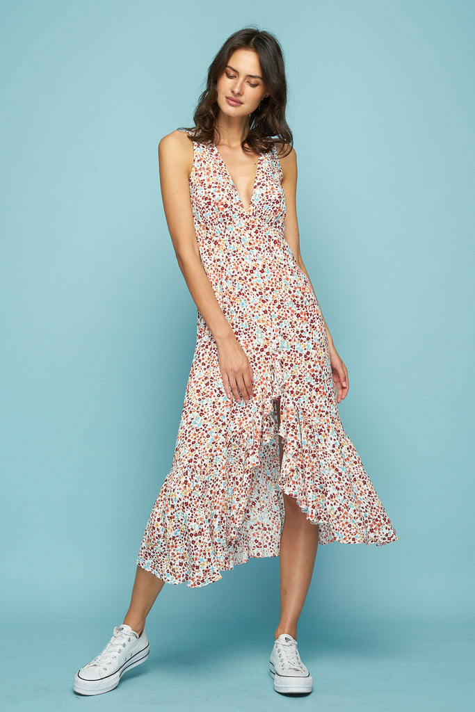 TALINA RUFFLE DRESS - WILD FLOWER
