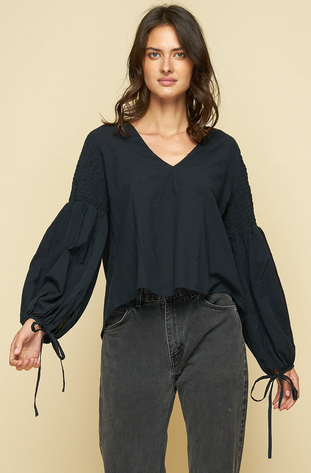 SABLE BLOUSE - Black - SAMPLE
