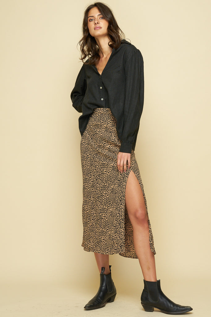 NINA MIDI SKIRT - TROUBADOR
