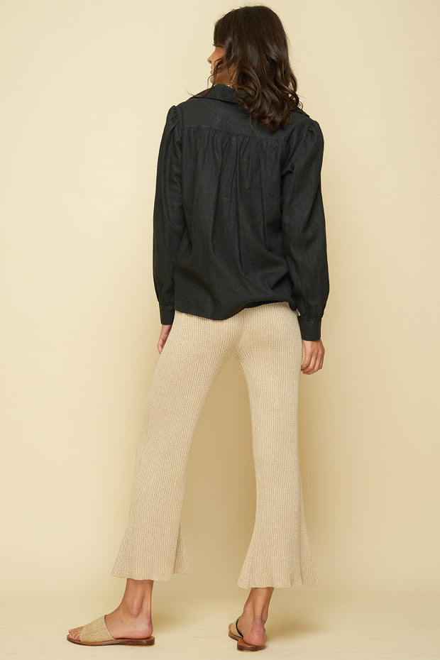 Domino Knit Pant - Sand