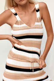 Dana Top - Boxy Stripes Black