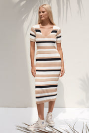Mavis Dress - Boxy Stripe Black