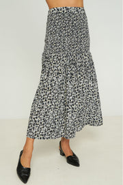 CARESSA SKIRT - Musee Floral - Black