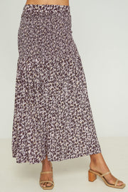 CARESSA SKIRT - Musee Floral - Orchid