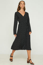 Rincon Wrap Dress - Gala - Black
