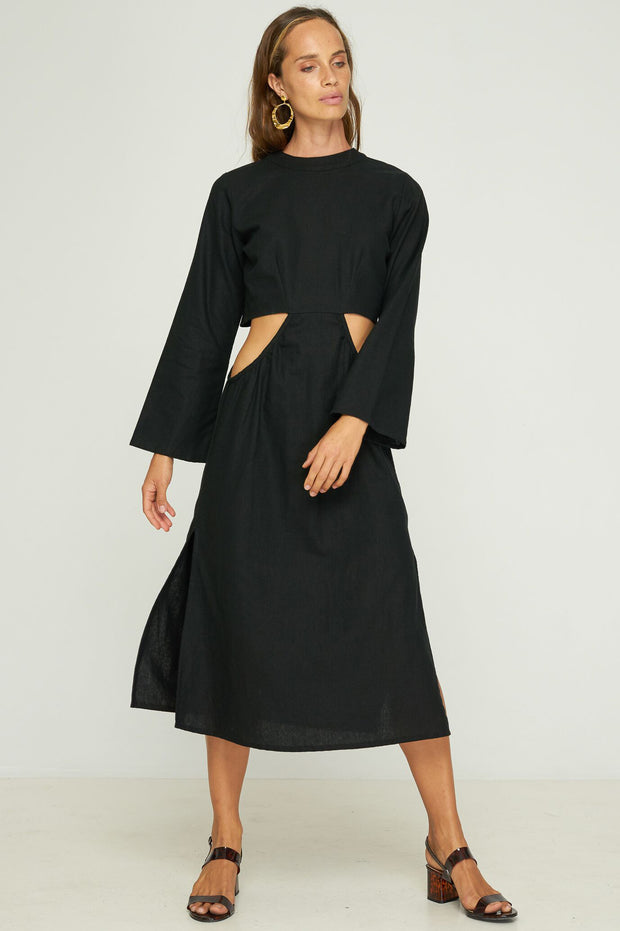 Linda Cut Out Dress - Black