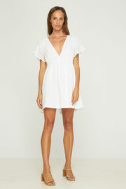 SOFIA MINI DRESS - WHITE - SAMPLE