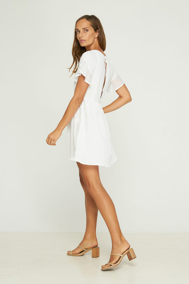 SOFIA MINI DRESS - WHITE - EXCLUSIVE TO RUE STIIC ONLINE