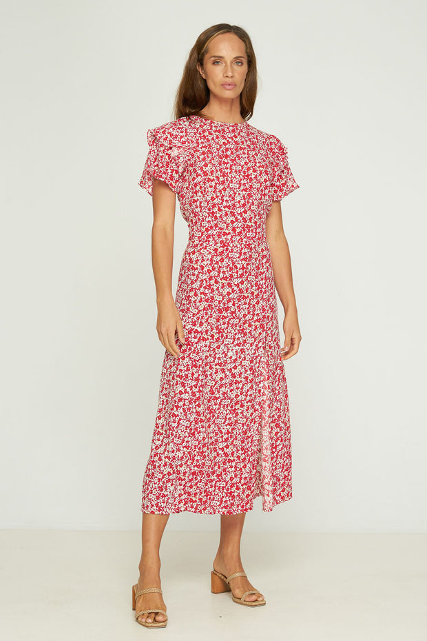 NYLA MAXI DRESS - MUSEE FLORAL - HIBISCUS