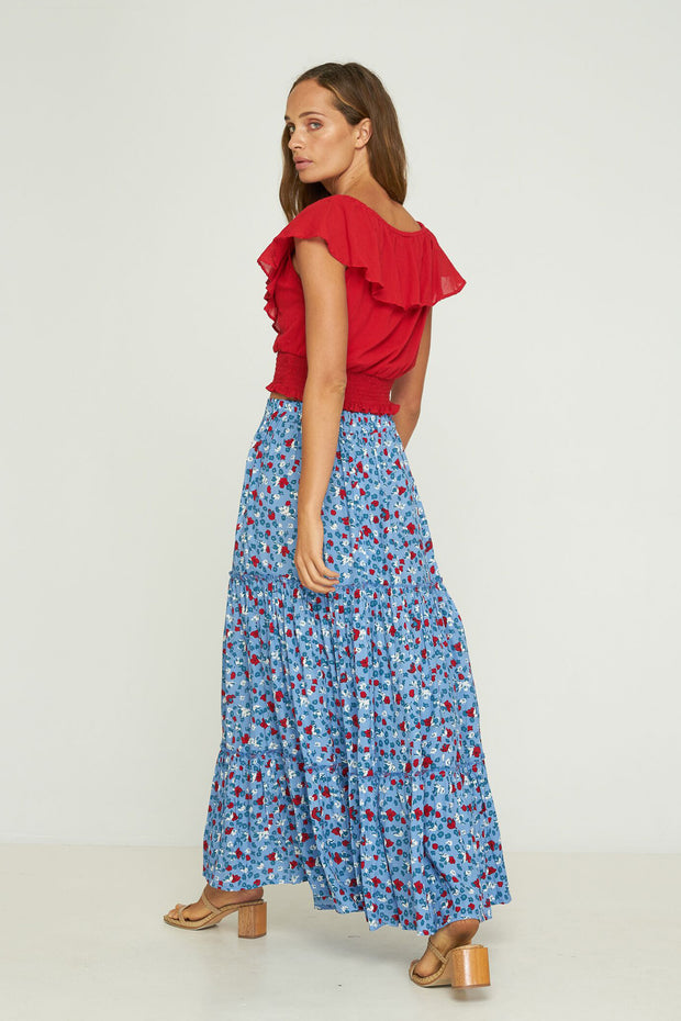 LILA TIERED SKIRT - STEVIE FLORAL - Bel Air