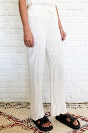 PRE ORDER SHAE KNIT PANT - WHITE