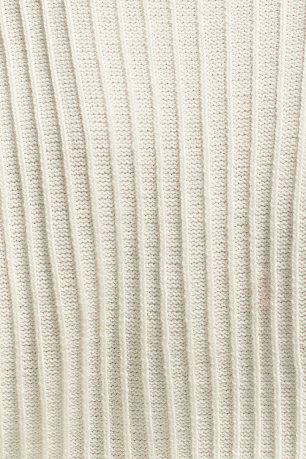 ZOE KNIT SWEATER - WHITE