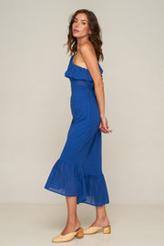 Westcott One shoulder Dress - Dazzling Blue