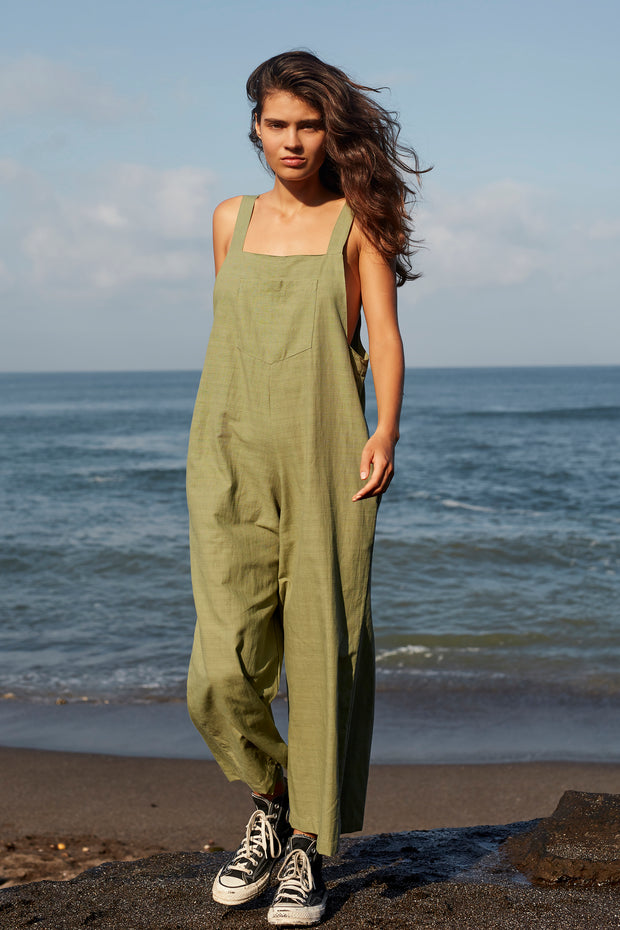 LYLA JUMPSUIT - OLIVE- SAMPLE