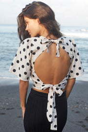 EMBER TOP - POLKA DOT - IVORY - SAMPLE