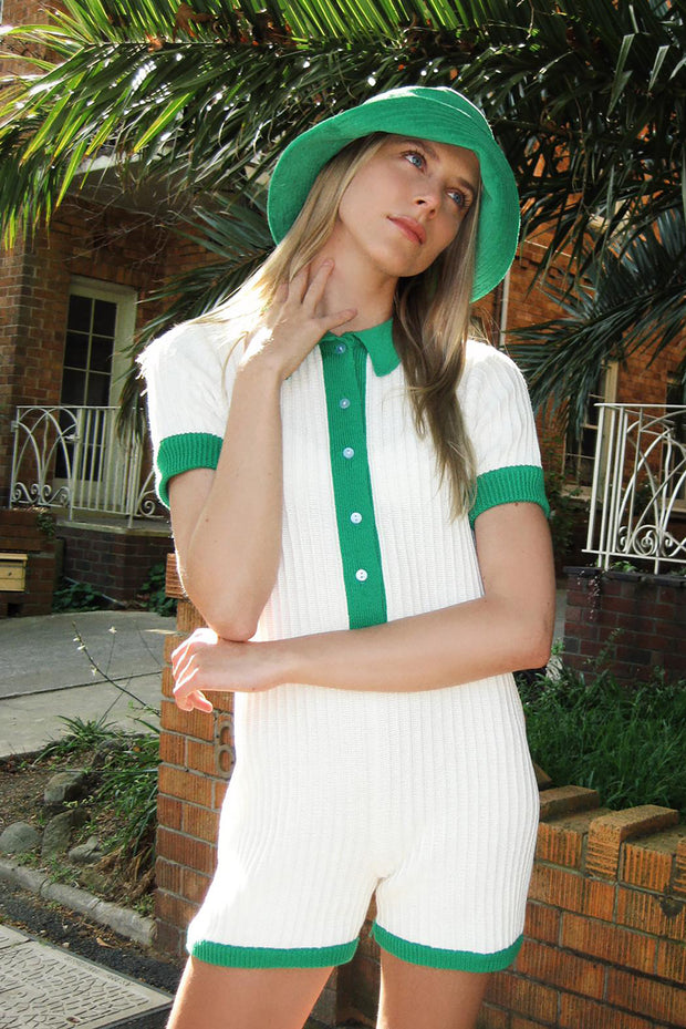 TENNIS TIME X RUE STIIC EXCLUSIVE - RYDER KNIT ROMPER