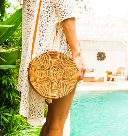 The Kuta Bali Rattan Round Bag