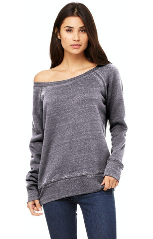 Off The Shoulder Fleece Sweatshirt