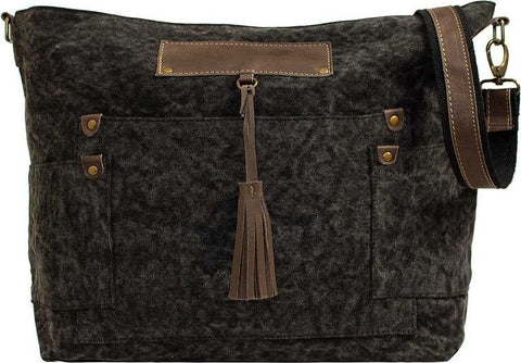 Charcoal Canvas Crossbody