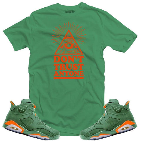 LACING UP-JORDAN 6 GREEN GATORADE DON'T TRUST GREEN TEE