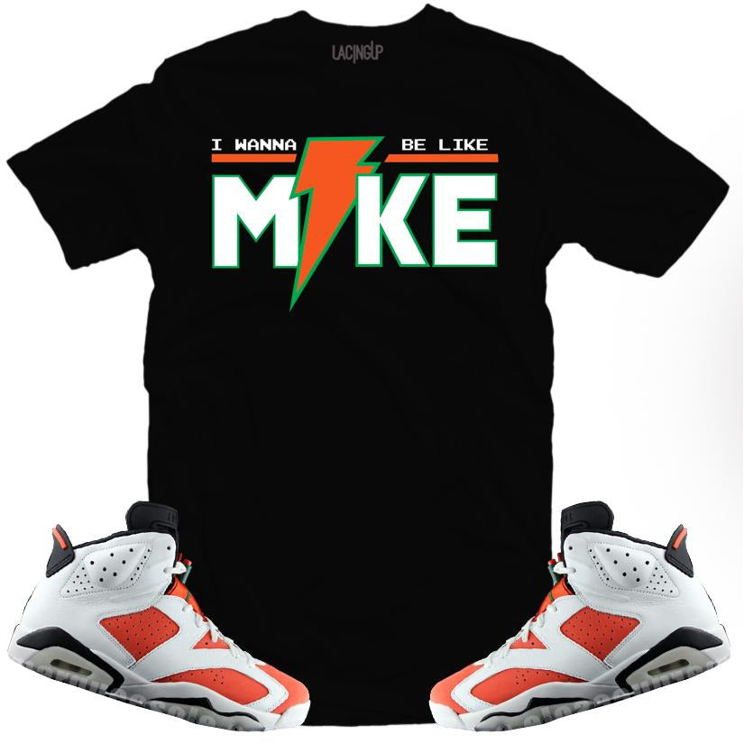 LACING UP-JORDAN 6 GATORADE LIKE MIKE BLACK TEE