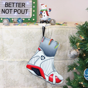 Jordan 14 candy cane Christmas stockings-Lacing Up