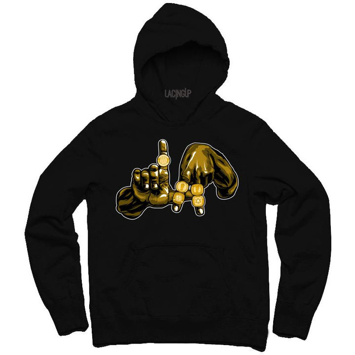 5 rings L.A black hoodie-Lacing Up
