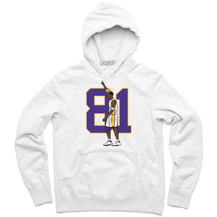 81 points white hoodie-Lacing Up