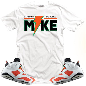 LACING UP-JORDAN 6 GATORADE LIKE MIKE WHITE TEE