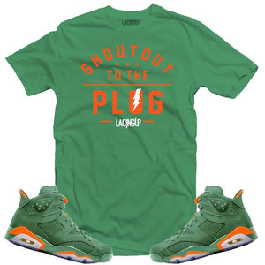 LACING UP-JORDAN 6 GREEN GATORADE PLUG GREEN TEE