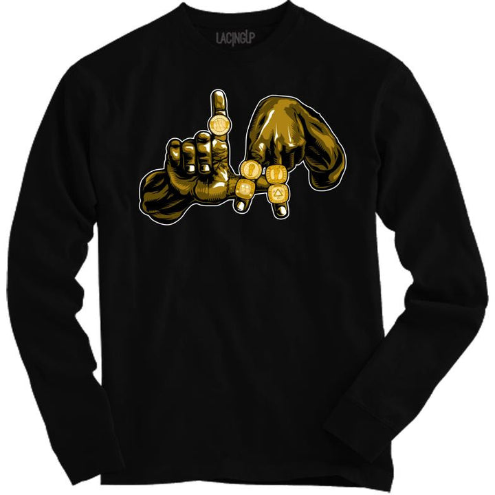 5 rings L.A black Long sleeve-Lacing Up