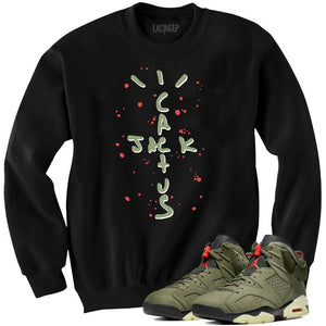 Jordan 6 travis scott black crewneck sweater-Lacing Up