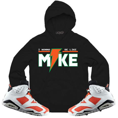 LACING UP-JORDAN 6 GATORADE LIKE MIKE BLACK HOODIE