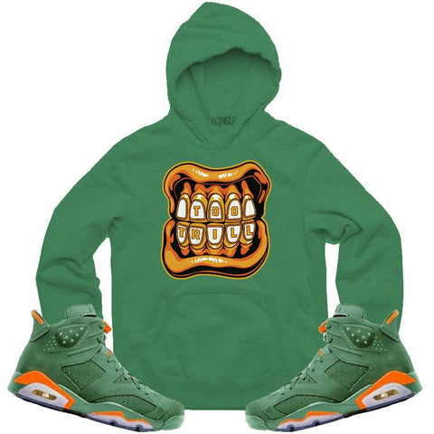 LACING UP-JORDAN 6 GREEN GATORADE TOO TRILL GREEN HOODIE