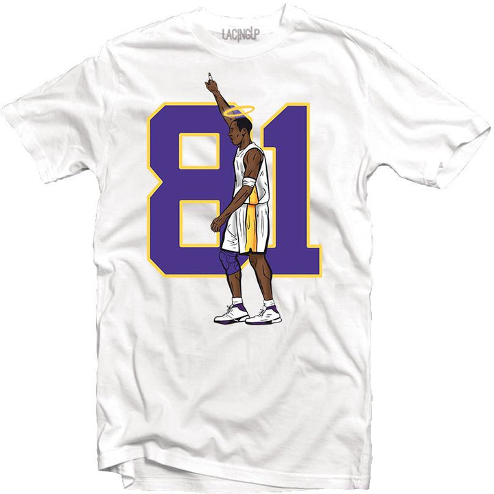 81 points white tee-Lacing Up