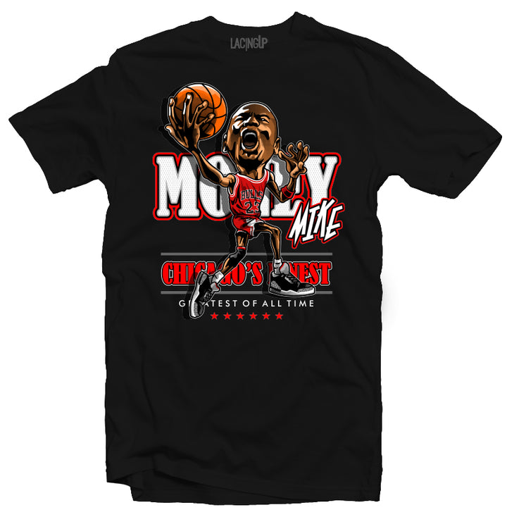 Jordan 5 black OG death row black tee-Lacing Up