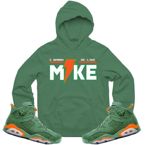 LACING UP-JORDAN 6 GREEN GATORADE LIKE MIKE GREEN HOODIE