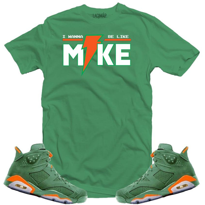 LACING UP-JORDAN 6 GREEN GATORADE LIKE MIKE GREEN TEE