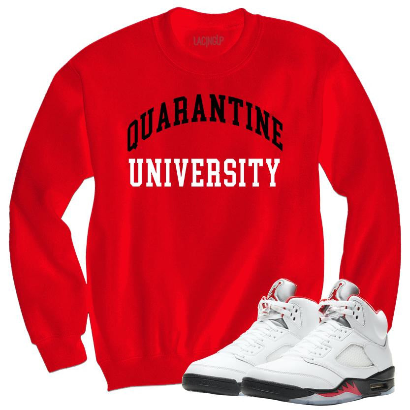Quarantine University red sweater