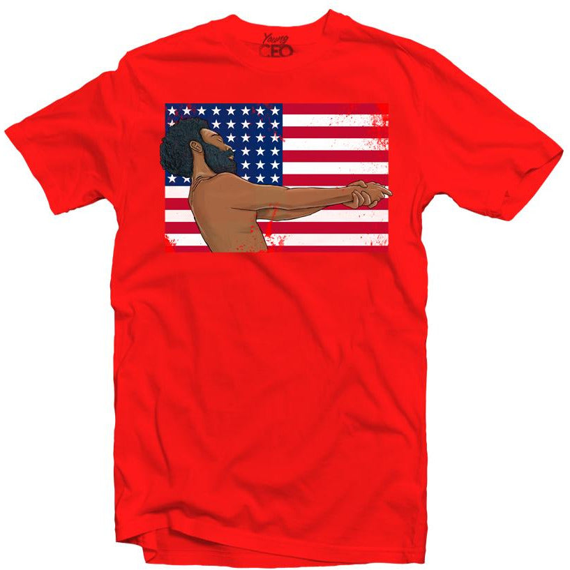YOUNG CEO-THIS IS AMERICA RED TEE