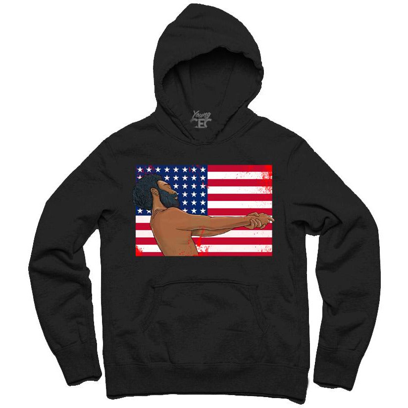 YOUNG CEO-THIS IS AMERICA BLACK HOODIE