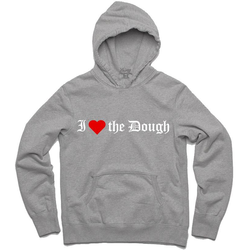 YOUNG CEO-I (HEART) THE DOUGH GRAY HOODIE
